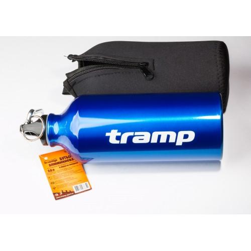 Бутылка 0,6 л алюминиевая в чехле Tramp