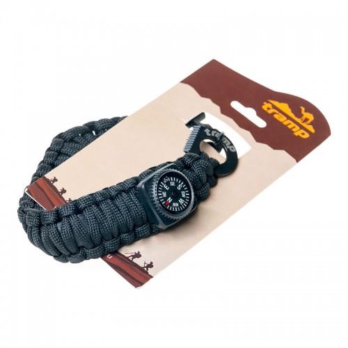 Браслет выживальщика (компас, огниво, паракорд) Tramp TRA-237