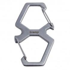 Tramp карабин двойной со стропорезом, сталь